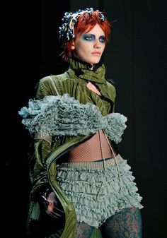 """Jean Paul Gaultier: """"I think that the collection is very much sophisticated and very woman. It's elegant"""""""