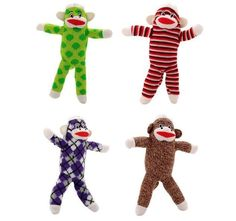 Sock Monkey for Dog Puppy Classic Plush fun for all Dogs and their Humans