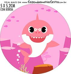 Baby Shark:  Toppers para Cupcakes para Imprimir Gratis. Shark Party Decorations, Party Themes, Spa Party, Baby Party, Little King, Sprinkle Shower, Troll Party, Under The Sea Theme, Baby Kit