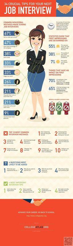 19. #interview conseils - 23 #infographie utiles pour #aider votre #carrière... → #Money