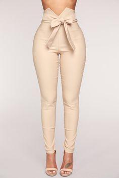 Fashion Nova Knot Your Girl Pants - Khaki $30