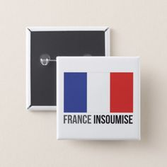 France first France insoumise French flag MFGA Pinback Button  $3.50  by Kekistan  - custom gift idea