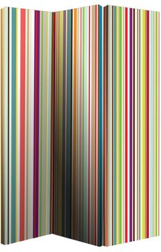 Buy Bright Stripe Room Divider - Multicoloured at Argos.co.uk - Your Online Shop for Decorative screens.