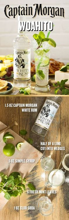 When brunch calls, the Captain answers. Before you break out the bacon and eggs, make sure your guests have a sweet cocktail to sip on. To make a Mojito like a Captain, muddle half a lime cut into wedges, 6 fresh mint leaves, and 0.5 oz simple syrup in a shaker. Add 1.5 oz Captain Morgan White Rum and fill with ice. Shake well, pour into collins glass, and top with club soda. Garnish with mint sprig and enjoy a Mojito at your next brunch this spring.