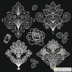 Black and White Paisley | paisley_pattern_black_and_white_13-mb.rar [5,76 Mb ...