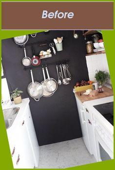 and a Rewarding Process #Tiny #Kitchen #Chic #Budget...