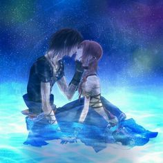 Noel and Serah - Final Fantasy XIII-2 ( I personally like Serah and Snow together because that's how it is in the game... But love this fan art :) )