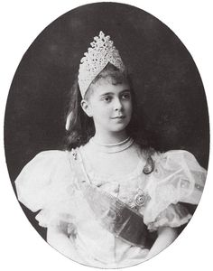 Grand Duchess Elena Vladimirovna of Russia, first cousin to the last Tsar Nicholas II, during coronation festivities of 1896