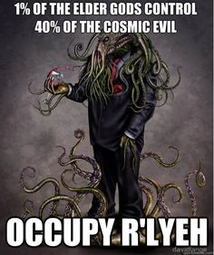of the elder gods control of the cosmic evil occupy r'lyeh occupy cthulhu Art Cthulhu, Lovecraft Cthulhu, Hp Lovecraft, Call Of Cthulhu, Lovecraftian Horror, Old Ones, Horror Art, Character Art, Creepy