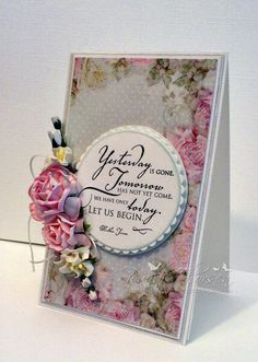 Wild Orchid Crafts: Card - Yesterday Is Gone