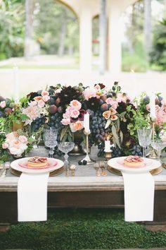 Fig + Flower Centerpieces