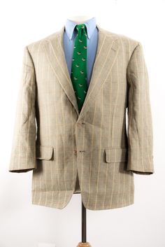 Brooks Brothers Men's Sports Coat in Yellow Glen Plaid Two Button Size 40S