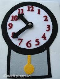 Resultado de imagen para quiet book clock