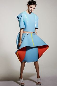 """Top and Skirt by Valeska Jasso Collado """"Westminster Graduation Show 2014"""""""