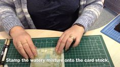 cardmaking embellishment video tutorial: Stamping a Mottled Brick Wall Background