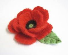 Image result for fabric poppy brooches
