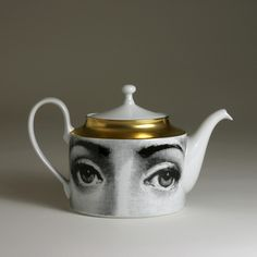 Fornasetti TEAPOT ___________________________ Reposted by Dr. Veronica Lee, DNP (Depew/Buffalo, NY, US)