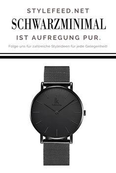7ecea6d39a06 Minimalistische schwarze Uhr von Alienwork für nur 29€ - klassisch