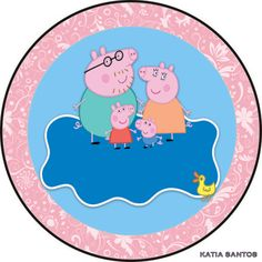 h Peppa Pig Printables, Party Printables, Birthday Party Decorations, Birthday Parties, Pig Birthday, Peppa Pig Images, Aniversario Peppa Pig, Cumple Peppa Pig, Teddy Pictures