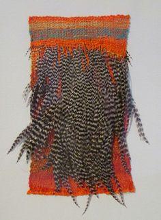 Natalie Magnin - Zamirte Textiles - Textile and Fiber Art Art Fibres Textiles, Textile Fiber Art, Weaving Textiles, Weaving Art, Textile Artists, Fabric Wall Decor, Hanging Fabric, Woven Wall Hanging, Fabric Art