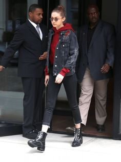 daiilycelebs: 4/17/17 Gigi Hadid out in NYC.