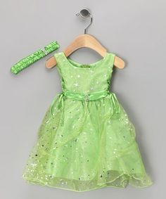 Take a look at this Shanil Lime Star Tulle Dress & Headband - Infant & Toddler by Shanil on #zulily today!