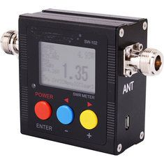 SW-102 100-520MHz Digital VHF/UHF SWR Meter for Radio with Frequency Counter + Power Meter