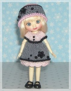 Amelia Thimble Dolls Pink and Gray Color Block by JCsTinyTreasures