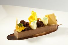 "Chocolate Hazelnut Custard, Bitter Orange Foam, Chocolate Cake Recipe will be feature in my book ""Bachour"" now on Amazon, http://www.amazon.com/gp/product/0933477384/ref=s9_psimh_gw_p14_d0_i1?pf_rd_m=ATVPDKIKX0DER&pf_rd_s=center-2&pf_rd_r=1TX75EZCT89CSWJC"