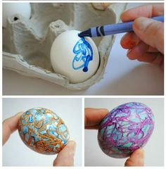 Easter Egg Decorating With Crayons