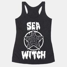 Who wants to just a mermaid when you can be a badass, spell casting, fierce sea witch instead? Show off all of your sea witchy powers and pastel goth, sea punk style with this naughty and nautical,... | Beautiful Designs on Graphic Tees, Tanks and Long Sleeve Shirts with New Items Every Day. Satisfaction Guaranteed. Easy Returns.