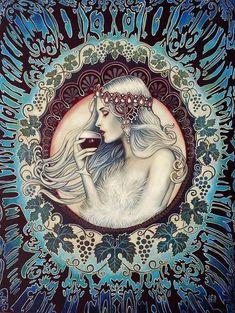 Essential Top - Art Nouveau Goddess by VIDA VIDA Cheap Newest Sale Shop For Clearance Best G1vEq6iq3Z