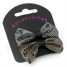 Silver and Gold 2 Piece Sequin Bow Hair Accessory Clip School Accessories 241404b6e1d1