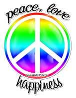 Peace love happiness - Cool Graphic