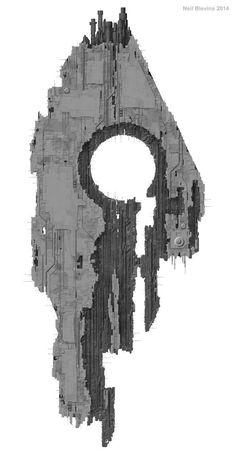 Alien Starship 4, Neil Blevins on ArtStation at https://www.artstation.com/artwork/BAv9