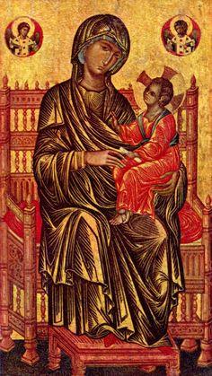 Italian-Byzantine Artist — Madonna Enthroned, 13th century : The National Gallery of Art, Washington, D.C. USA (1000×1777)