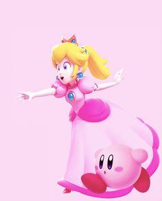 Peach and Kirby