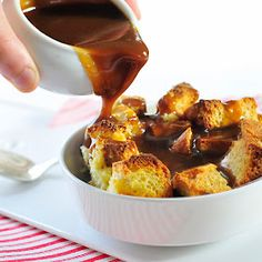 Simply Gourmet: Easy Eggnog Bread Pudding with Butterscotch Sauce
