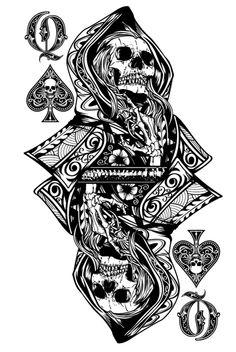 Skull with hoodie and metal horns Playing Card Tattoos, Playing Cards Art, Custom Playing Cards, Card Tattoo Designs, Poker Tattoo, Pokerface, Skeleton Art, Skull Wallpaper, Skull And Bones
