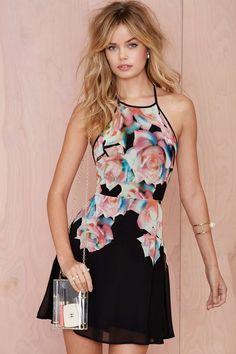 It's All a Fleur Chiffon Dress
