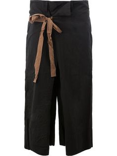 waist-tie cropped trousers