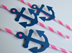 12 Pink and Navy Blu