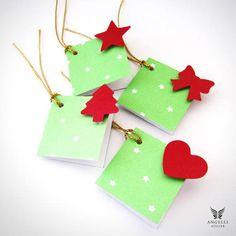Kit com 4 Tags de Natal Pistache!