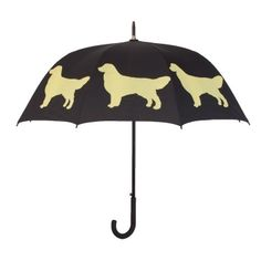 Golden Retriever Stick Umbrella. Available @ www.let-it-rain.com