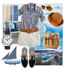 """""""Gone Fishing"""" by mobaby22 on Polyvore  - blue shirt"""