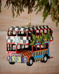 Double+Decker+Bus+Christmas+Ornament+by+MacKenzie-Childs+at+Neiman+Marcus.