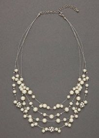weddings - floating pearl necklace #bride