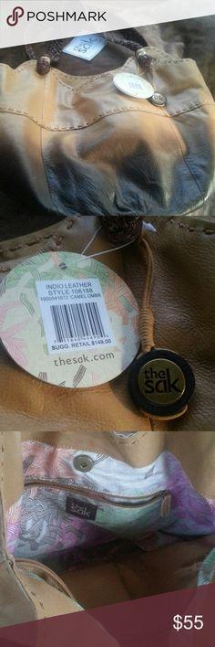 The Sack  purse nwt Camel ombre leather, shoulder bag, The Sak Bags Shoulder Bags