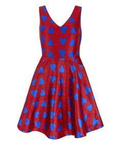 Look what I found on #zulily! Red Heart Skater Dress #zulilyfinds