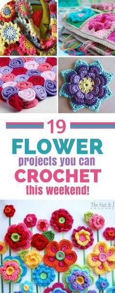 Some gorgeous crochet flower projects to hook this weekend! #crochet #crochetpatterns